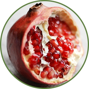 Pomegranate fruit broken open - Anti-aging benefits of Pomegranate